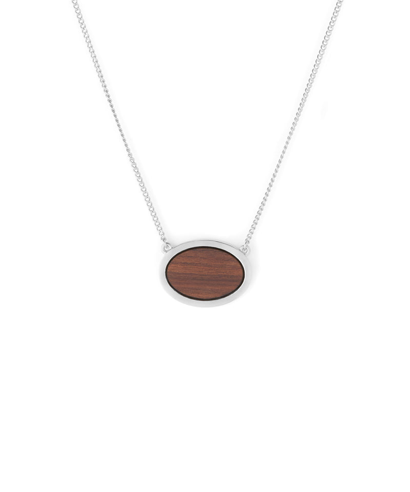 Wood Oval (Silver)