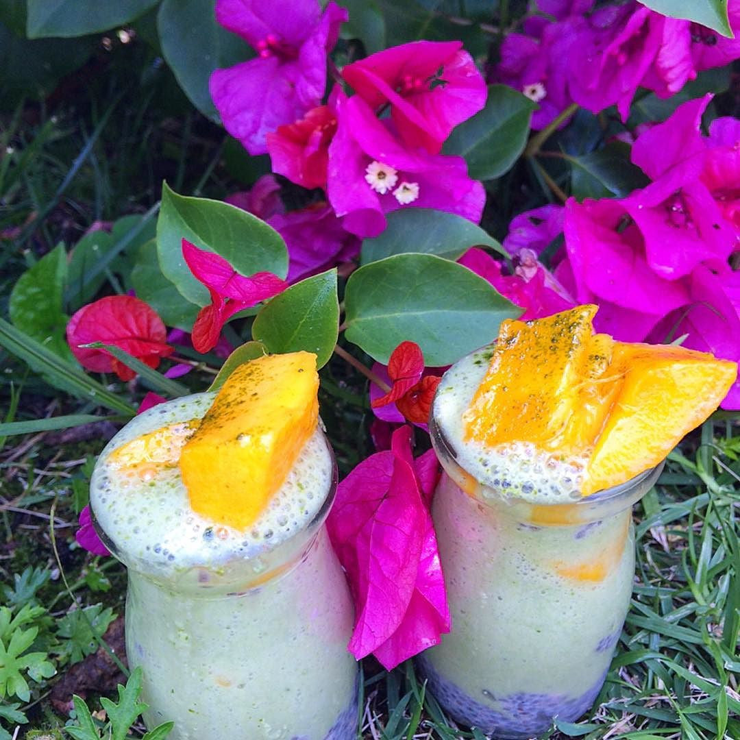 Tropical Chia Pudding Baobab Smoothie with Mango
