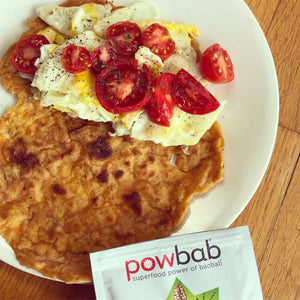 Breakfast Baobab Egg Tomato Wrap