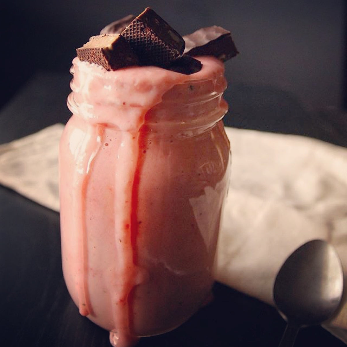 Strawberry Baobab Greek Yogurt Smoothie