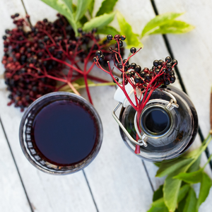 Simple Elderberry Syrup using Elderberry Powder