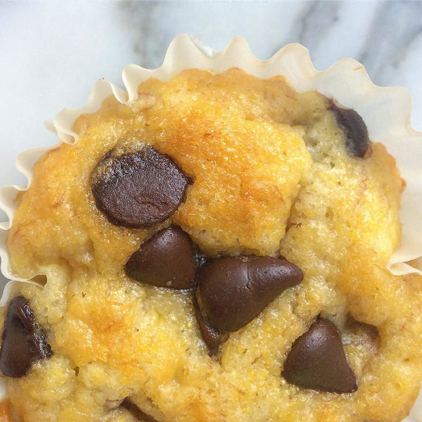 Chocolate Chip Baobab Corn Muffin