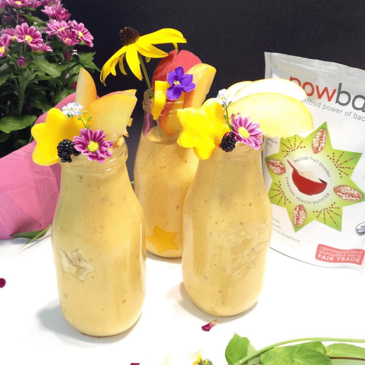 Baobab Mango Peach Smoothie