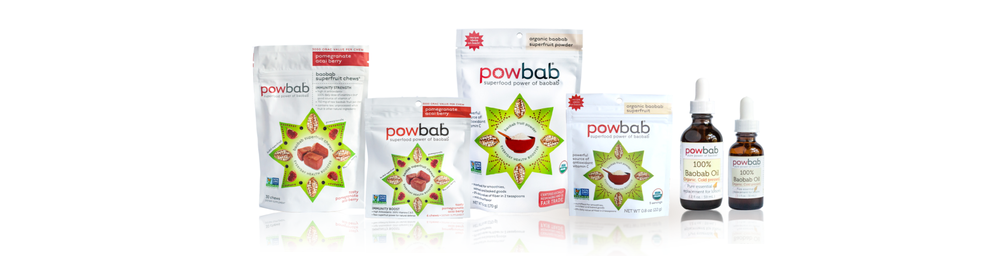 all powbab products