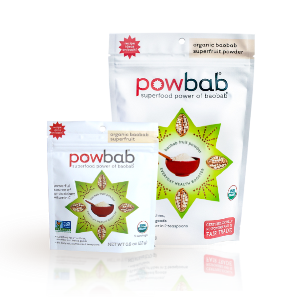 baobab superfruit powder organic by powbab, best premium baobab superfood for smoothies, breakfast, baked goods.