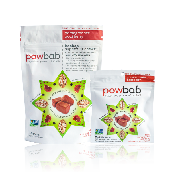 Antioxidant baobab chews for anti-aging