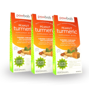 powbab peanut turmeric supplement bites - 3 pack