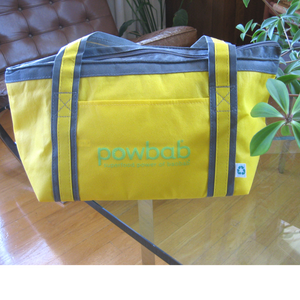 yellow cooler tote