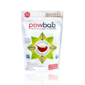 powbab organic baobab superfruit powder - 6 oz. pouch