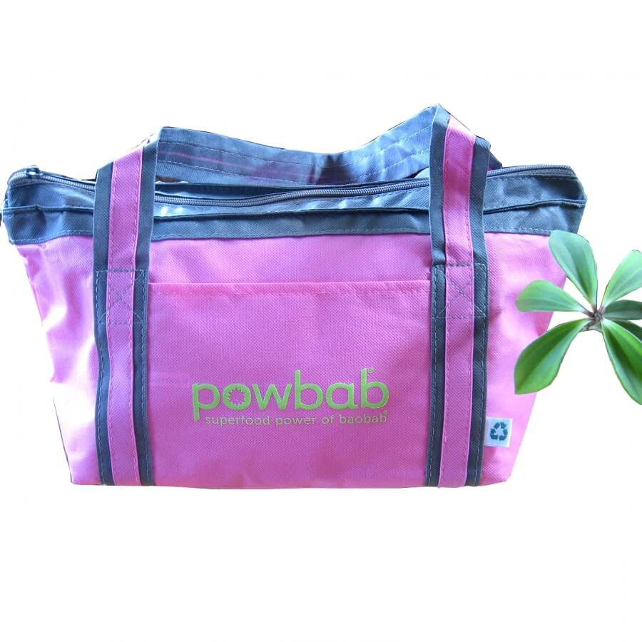 powbab® small cooler tote in billiant pink
