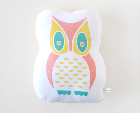 Owl Organic Cotton Sateen Pillow