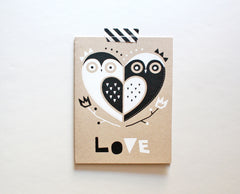 Owl Love Screenprinted Card