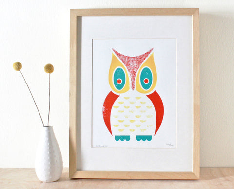 Owl Screenprint