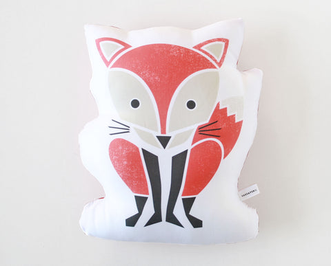 Red Fox Organic Cotton Sateen Pillow