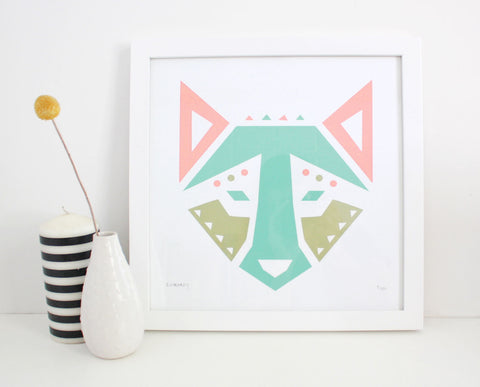 Geometric Dog Screenprint