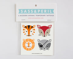 Temporary Tattoos- Modern Animals