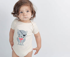 Pirate Kitty Screenprinted Organic Baby Onesie