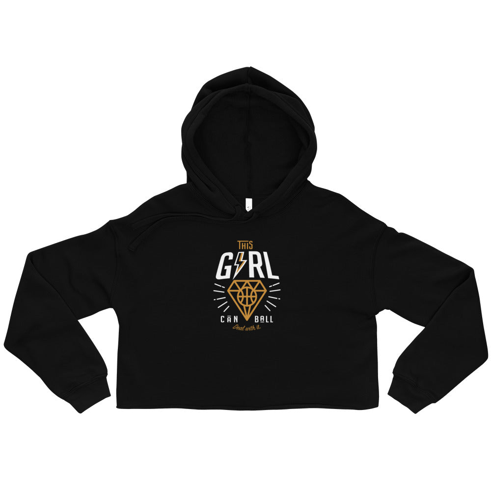 Girl Can Ball - Crop Hoodie