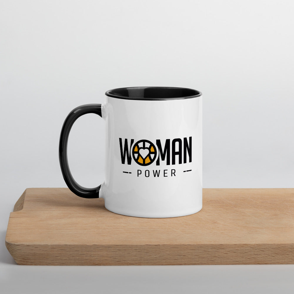 Woman Power - Mug with Color Inside