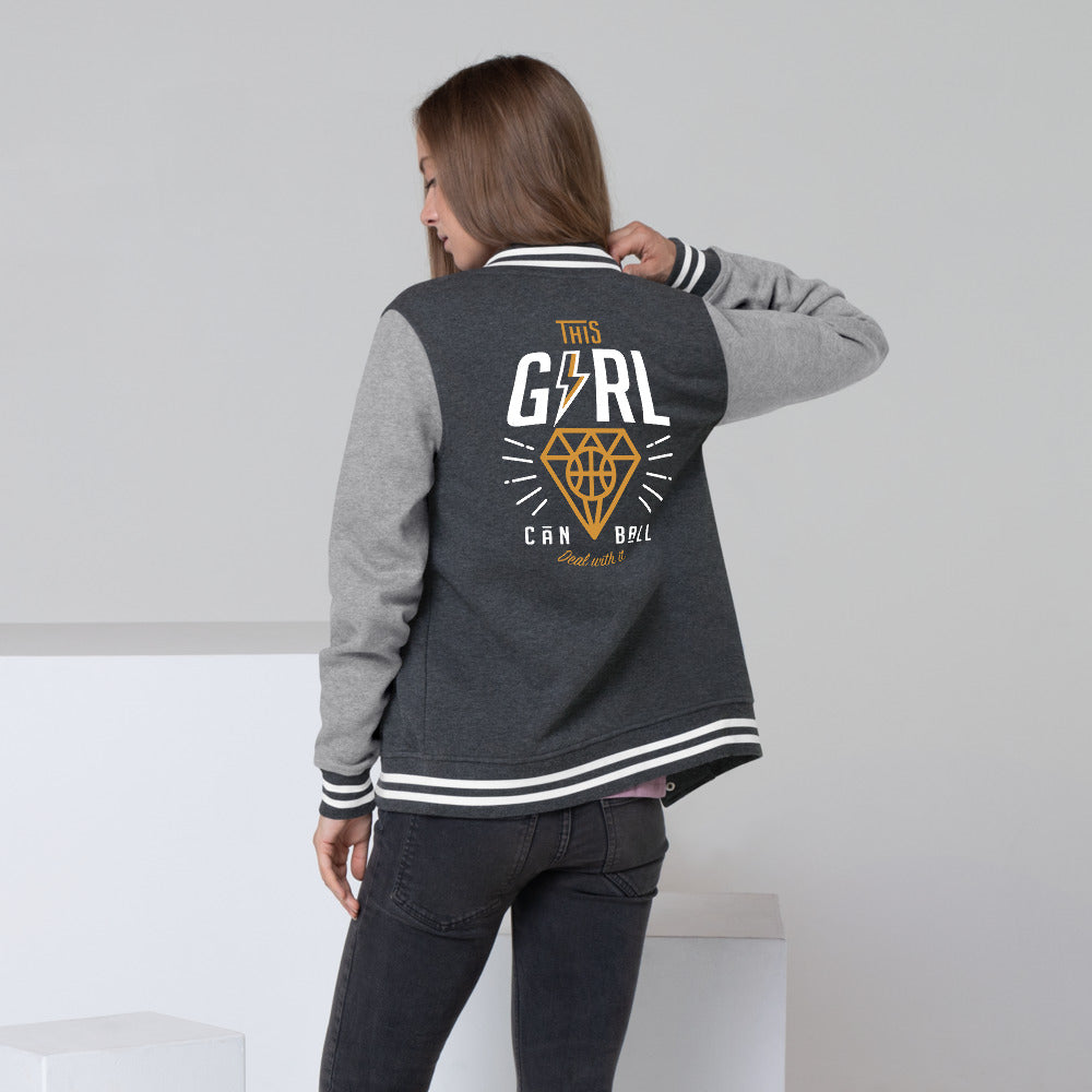 Girl Can Ball - Women's Letterman Jacket