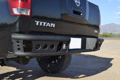 Addictive Desert Designs 04-15 Nissan Titan Dimple R Rear Bumper