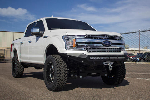 Addictive Desert Designs 2018 Ford F-150 Stealth Fighter Front Bumper w/ Winch Mount