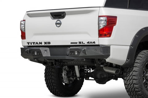 Addictive Desert Designs 16-18 Nissan Titan XD Stealth Fighter Rear Bumper w/ Backup Sensor Cutout