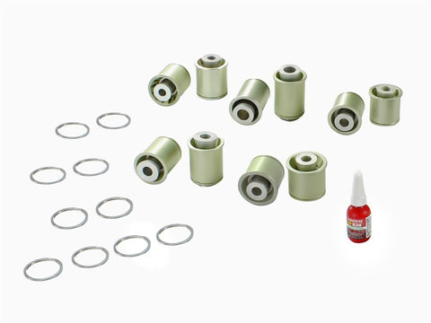 aFe Control PFADT Steel Frame Drag Rear Solid Spherical C/A Bearings Set; Chevy Corvette C5 / C6