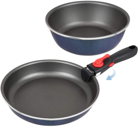 Shineuri Non Stick Frying Pan With Detachable Handle (3Pcs)