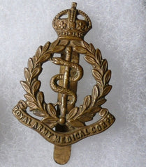 WW II British Medical Corps Cap Badge