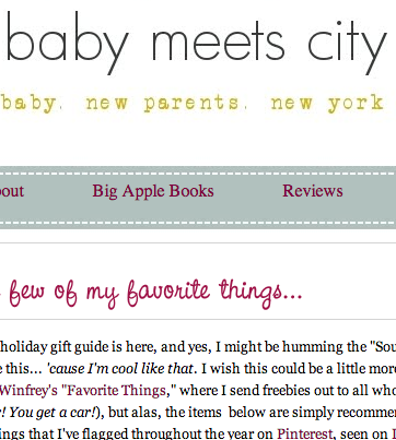 Press from Baby Meets City - December 2012