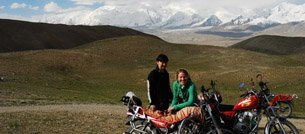 Anne Laure in Central Asia