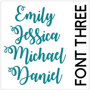 Single Waterproof Name Sticker Decals