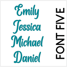 Load image into Gallery viewer, Single Waterproof Name Sticker Decals