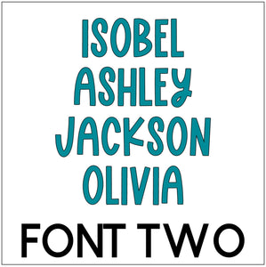 Waterproof Name Sticker Decals - Monsters
