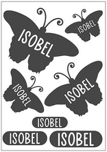 Load image into Gallery viewer, Waterproof Name Sticker Decals - Butterflies