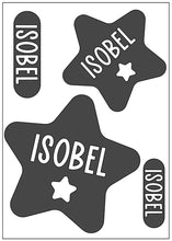 Load image into Gallery viewer, Waterproof Name Sticker Decals - Star