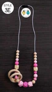 Beaded Teether Necklaces (for Mama)
