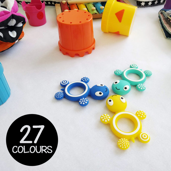 Silicone Teething Turtle - 27 Colours!