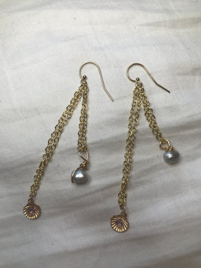 Pearl SeaShell Earrings