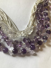 Load image into Gallery viewer, Opal & Amethyst Silver Body wrap