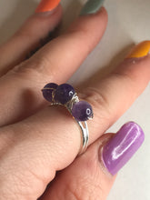 Load image into Gallery viewer, Amethyst Trinity Ring