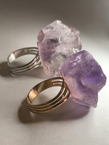 Amethyst Rock Candy Ring