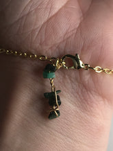 Load image into Gallery viewer, Emerald Gold Hand Chain