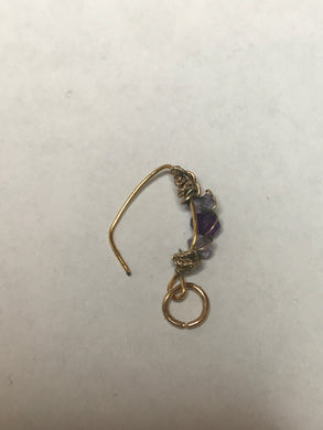 Amethyst Nose Ring