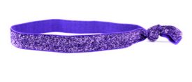 Purple glitter elastic headband