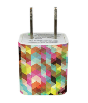 Wall Adapter Geometric Rainbow