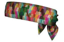 Geometric Rainbow Head Tie (SKU 1101 HTB)