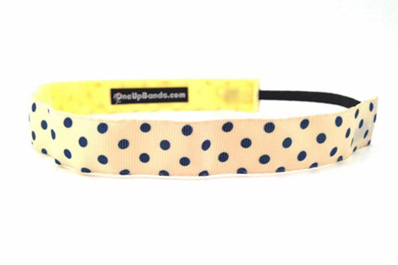 Polka Dots Small Yellow Navy (SKU 1189)
