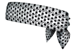 Soccer Balls Black White Head Tie (SKU 1206 HTB)
